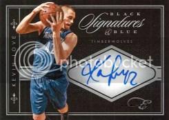 2010-11 Elite Black Box Kevin Love Blue Autograph