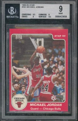 84-85 Star Michael Jordan BGS 9 Rookie RC Card