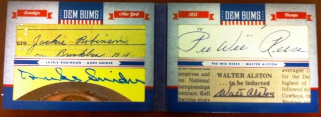 2011 Donruss Limited Cuts Jackie Robinson - Duke Snider - Pee Wee Reese - Walter Alston Autograph