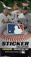 2011 Topps MLB Sticker 8 Card Pack