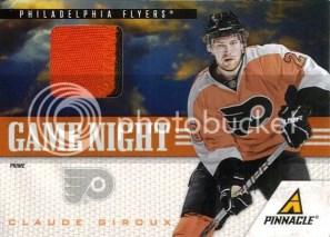 2011-12 Pinnacle Game Night Prime Jersey Claude Giroux Card