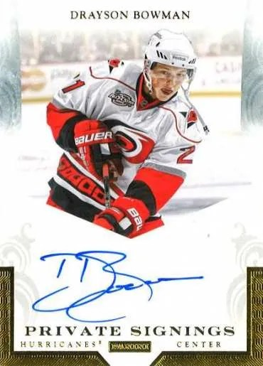2011-12 Pinnacle Drayson Bowman Private Signings Autograph Card