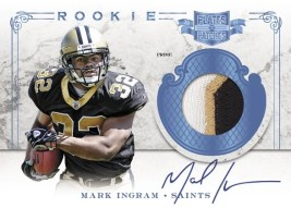 2011 Panini Plates & Patches Mark Ingram Jersey Autograph