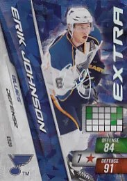 Erik Johnson Extra Signature Adrenalyn Card
