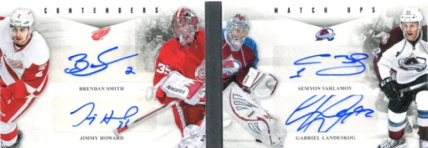 2011-12 Playoff Contenders Match-Ups Autograph Book Card