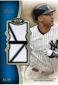 2012 Topps Tier One Patch Jersey Derek Jeter