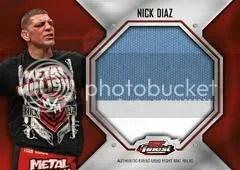 2012 Topps Finest UFC Nick Diaz Fight Mat Patch