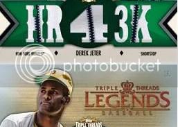 2012 Topps Triple Threads Derek Jeter Relic