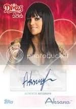 2012 Topps WWE Diva Autograph Aksana