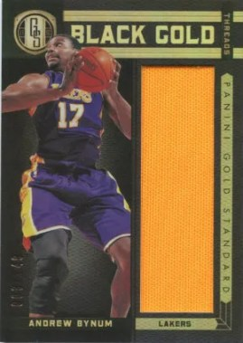 2011-12 Panini Gold Standard Andrew Bynum Black Gold Memorabilia Card