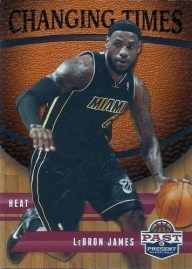 2011-12 Panini Past & Present Changing Times LeBron James Insert Card #25