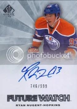 2011-12 Upper Deck SP Authentic Hockey Ryan Nugent-Hopkins Autograph RC