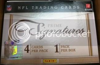 2011 Panini Prime Signatures Football Hobby Box