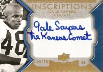 2011 Upper Deck Exquisite Inscriptions Autograph #I-GS Gale Sayers