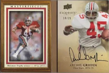 2011 Upper Deck Exquisite Masterpieces Book Autograph Card #M-AG Archie Griffin