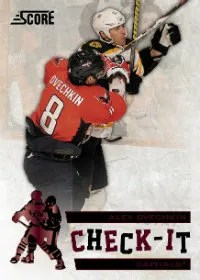 2012-13 Panini Score Check-It Alex Ovechkin Insert Card