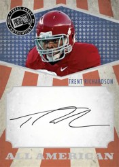 2012 Press Pass Trent Richardson All-American Autograph