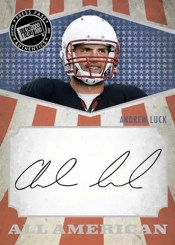 2012 Press Pass Andrew Luck Autograph All American