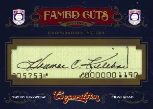 2012 Panini Cooperstown Famed Cuts Harmon Killebrew Autograph