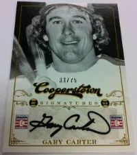 2012 Panini Cooperstown Gary Carter Autograph