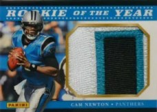 2012 Panini Fathers Day Rookie of the Year Cam Newton Jumbo Patch Card