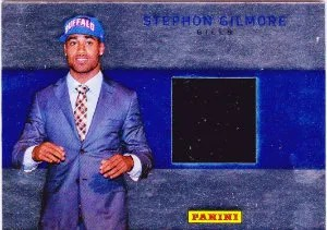 2012 Panini National Wrapper Redemption Stephon Gilmore Draft Day Material Card