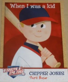 2012 Panini Triple Play Chipper Jones When I Was A Kid