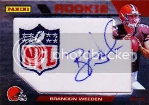 2012 Panini Wrapper Redemption Brandon Weeden Autograph Card