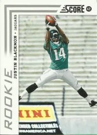 2012 Score SP Variation Justin Blackmon RC Card
