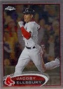 2012 Topps Chrome Jacoby Ellsbury SP Photo Variation