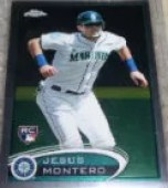 2012 Topps Chrome SP Photo Variation Jesus Montero