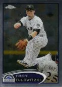 2012 Topps Chrome Troy Tulowitzki Base Card #110