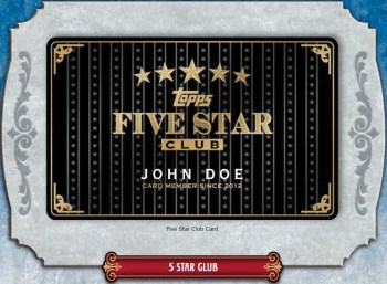 Topps Five Star Club Card