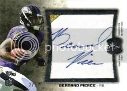 2012 Topps Jumbo Patch Bernard Pierce Jersey Autograph Card
