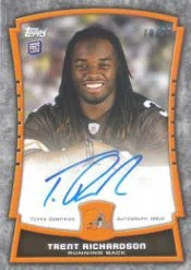 2012 Topps Football Trent Richardson Rookie Autograph