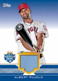 2012 Update Update Series Albert Pujols All-Star Stiches Card