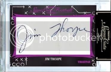2012 TriStar SignaCuts Jim Thorpe Fantastic Find Cut Autograph Card