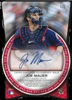 2012 Topps Chrome Buster Posey - Joe Mauer Cut From Autograph