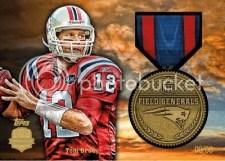 2012 Topps Football Tom Brady Military Medal