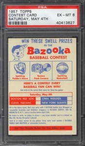 1957 Topps May 4th Contest Card Graded PSA 6