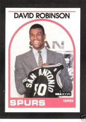 David Robinson 89-90 NBA Hoops RC Card