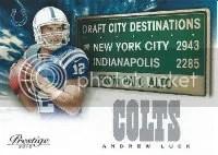 2012 Panini Prestige Andrew Luck Destination