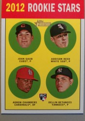 2012 Topps Heritage Card #54 Base Rookie Stars