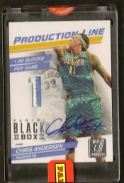 2012 Panini Black Box Chris Anderson Patch Auto 1/1
