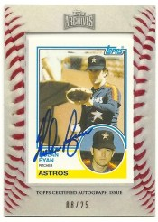 2012 Topps Archives Nolan Ryan Mini Autograph