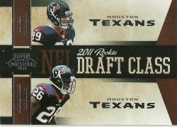 2011 Panini Contenders JJ Watt Brandon Harris Draft Class