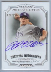2012 Topps Museum Collection Jeremy Hellickson Archival Autograph