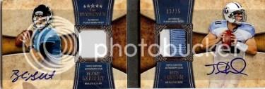 2011 Topps 5 Five Star Blaine Gabbert - Jake Locker Dual Auto Patch