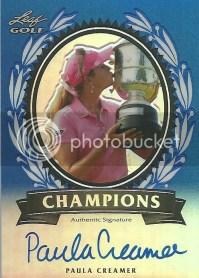 2012 Leaf Metal Golf Paula Creamer Champions Autograph Card