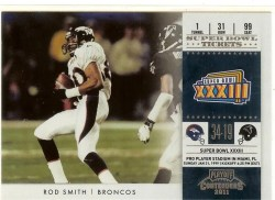 2011 Panini Contenders Rod Smith Super Bowl Ticket
